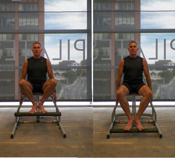 Lower Body Workout Challenge on the Pilates Chair: Lower Body Workout: Seated Double Leg Pumps on the Pilates Chair