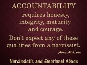 Image result for narcissist hold accountable