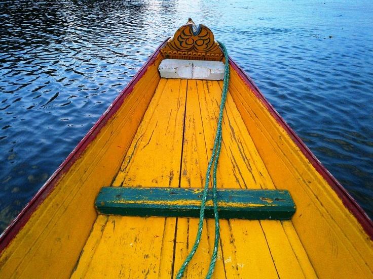 .Kashmir,boat,India,colour .#By Devika Narain