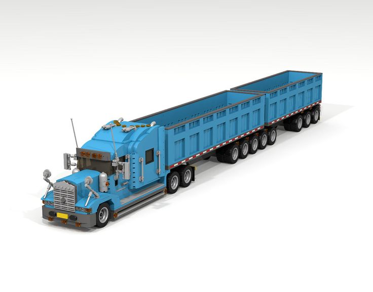 lego truck and trailer instructions
