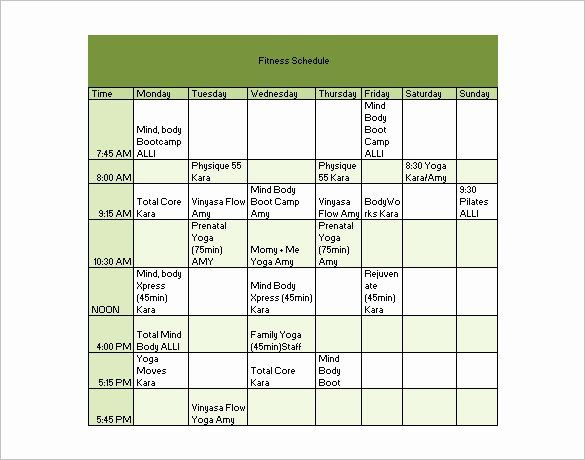 40 Workout Schedule Template Excel In 2020 Workout Plan Template