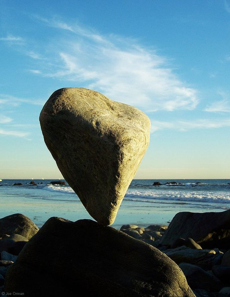 Balancing Heart rock, Dana Point California