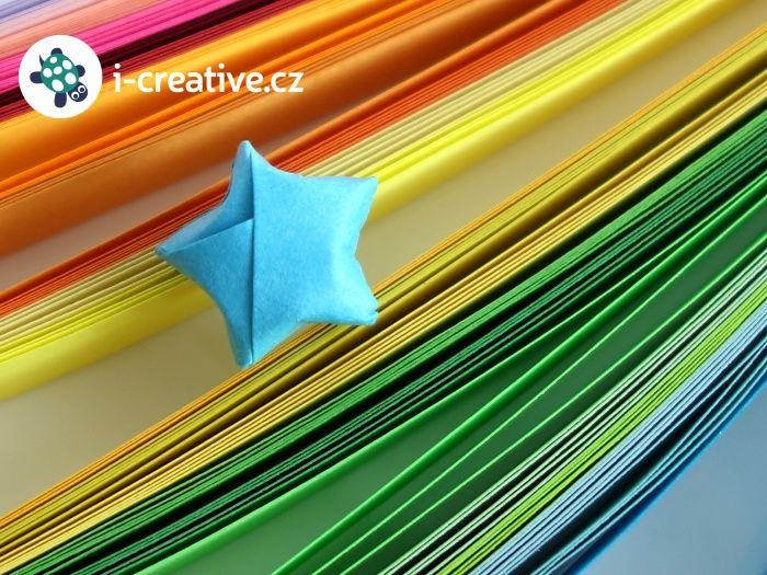 Origami hvězdička - postup krok za krokem