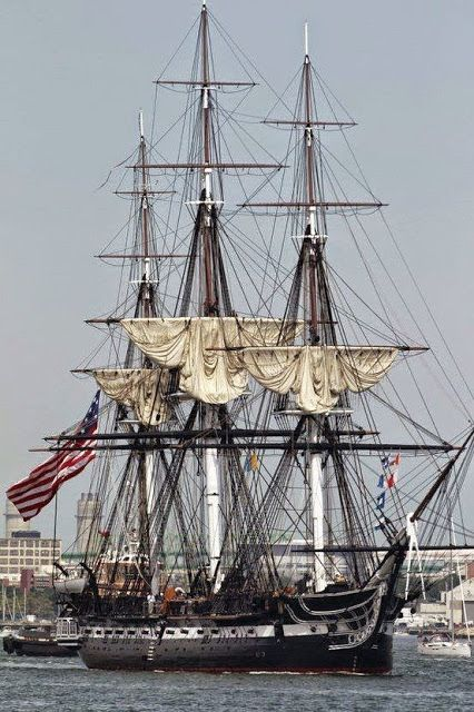 "1797 USS "" Constitution ""  Oldest Navel Vessel Afloat ."