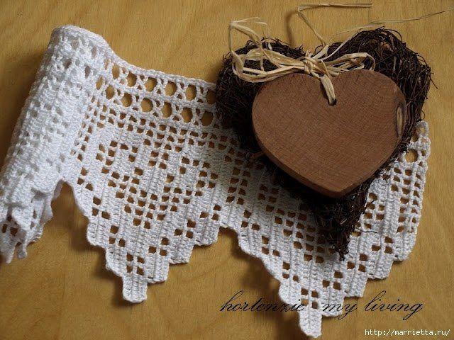 M s de 1000 im genes sobre corazones flores y mariposas - Esquema punto estrella crochet ...