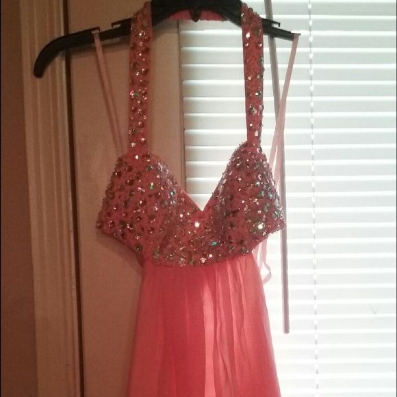 Blush prom dress Light Pink prom dress wore once! In perfect condition Dresses Backless