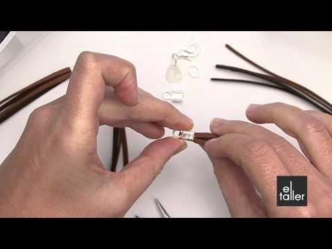 Video tutorial de la técnica de cierre con estribera para bisutería. www.eltalleronline.com