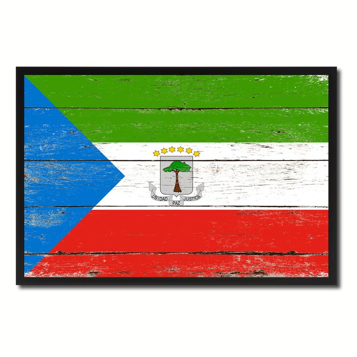 Equatorial Guinea Country National Flag Vintage Canvas Print with Picture Frame Home Decor Wall Art Collection Gift Ideas