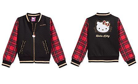 Hello Kitty Quilted Plaid Bomber Jacket, Toddler Girls (2T-4T) & Little Girls (2-6X)