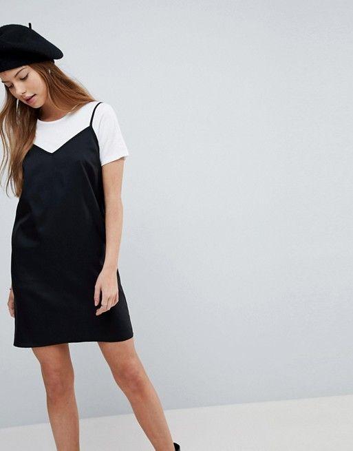 cc6b85bb24b DESIGN mini cami slip dress in 2019 | Closet Wishlist | Slip dress ...