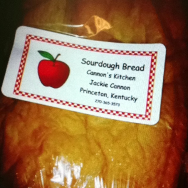 Made from Scratch Sourdough Bread.  White or Wheat