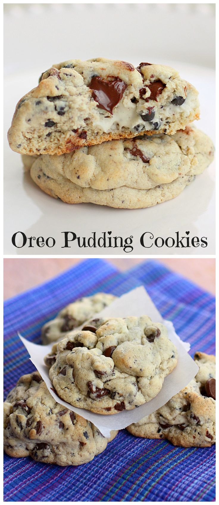 Oreo Pudding Cookies - soft and full of Oreo flavor.
