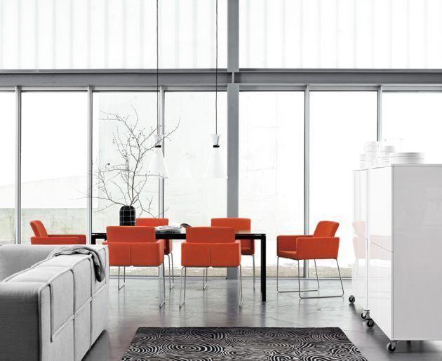 48 besten Esszimmer Bilder auf Pinterest Bunte stühle, Diner - feuer modernen design rotes esszimmer