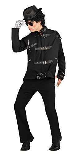 UHC Mens Mj Bad Bk Buckle Michael Jackson Jacket Deluxe Fancy Dress Costume Small 3436 * BEST VALUE BUY on Amazon