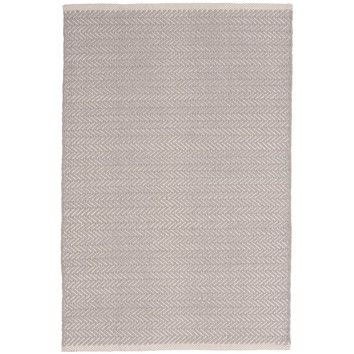 Shop AllModern for Dash and Albert Rugs Herringbone Woven Cotton Dove Grey Area Rug - Great Deals on all  products with the best selection to choose from!