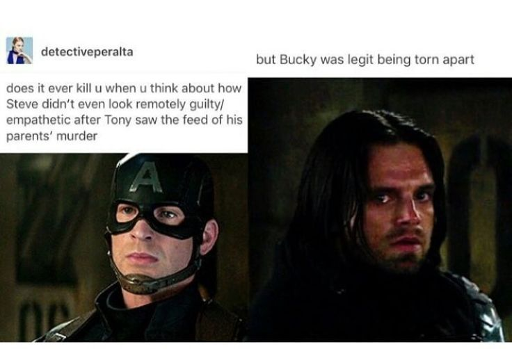 But you can see the pain in Steve's eyes about whether he should protect Bucky.
