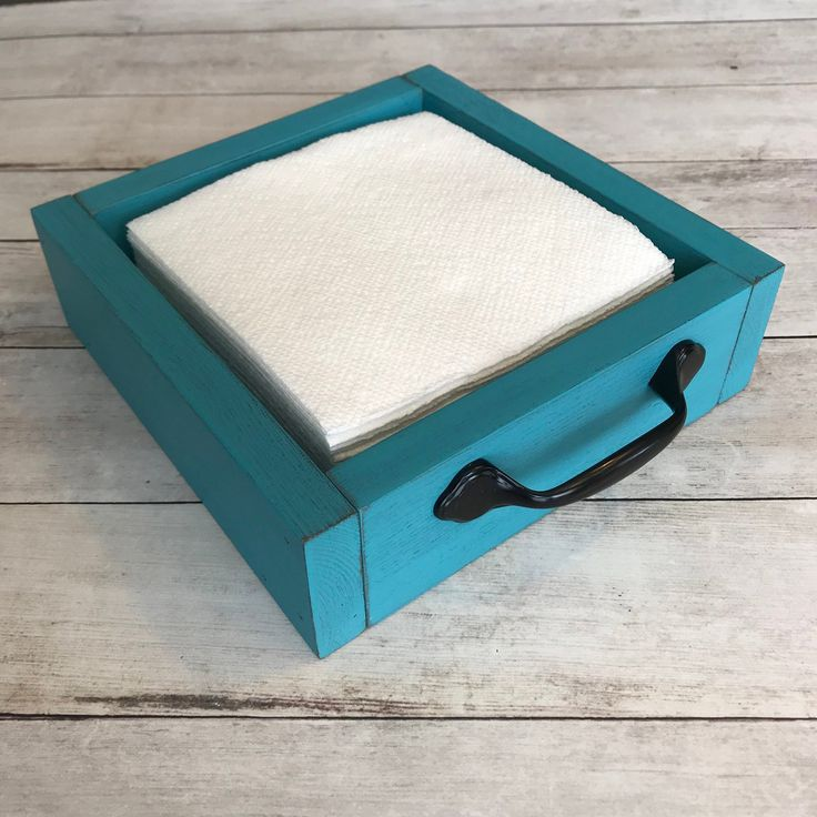Rustic Wood Napkin Holder | Farmhouse Style Napkin Holder | Distressed Napkin Holder | 8″L x 8″W x 2.5″H
