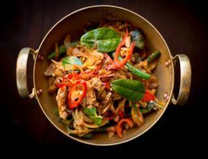 Stir up a Stir-Fry!: Thai Chicken Stir-Fried with Coconut, Chili & Lime