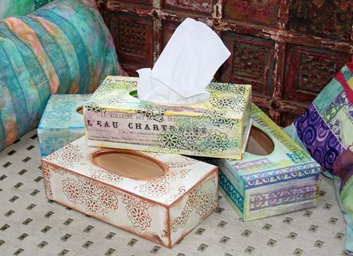 Craft decoupage boxes