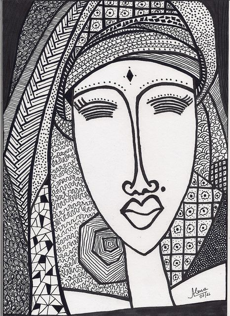 Zentangle Faces - Bing Images