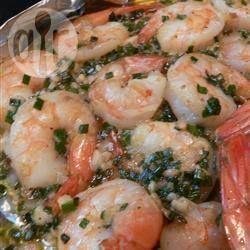 Foto recept: Knoflookgarnalen van de barbecue