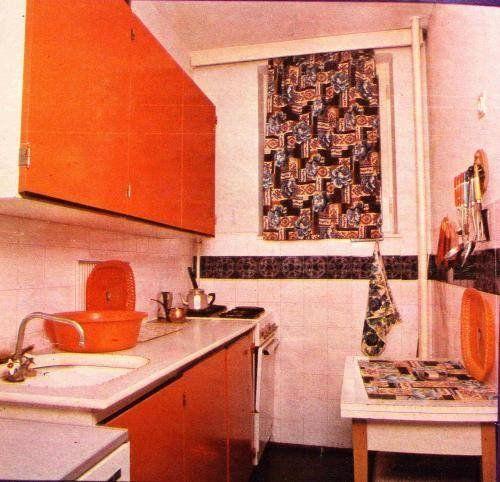 80-as évek beli retro konyha panelben.