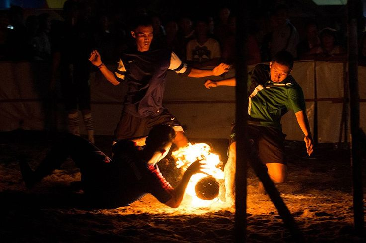 In Indonesia Football Is Played with a Ball of Fire Sepak ...
