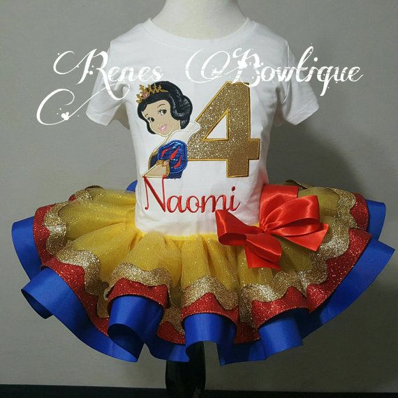 Snow White Ribbon Tutu Set by RenesBowtique on Etsy