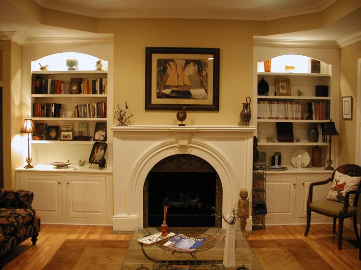 22 Best Images About Fireplace Bookcases On Pinterest