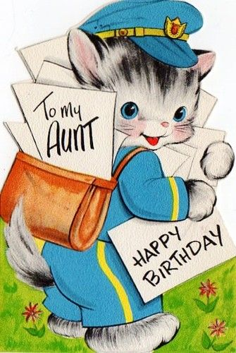 20 best card aunt bday images on pinterest vintage cards vintage aunt birthday card m4hsunfo Gallery