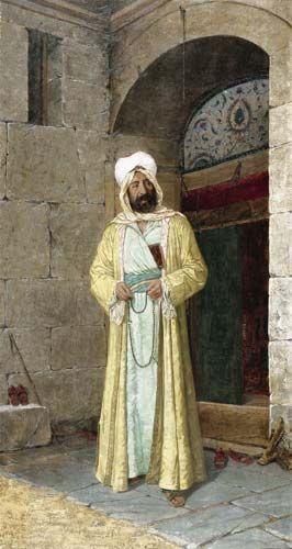 Osman Hamdi Bey, Le Hodja au caftan jaune, 1905, Musée de peinture et de sculpture, Istanbul