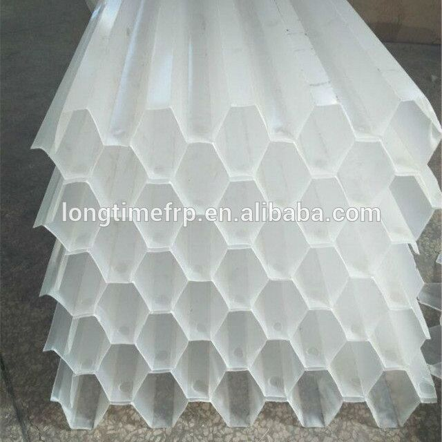 Cooling Tower Trickle Grid Cooling Fill Pvc Plastic Hexagon