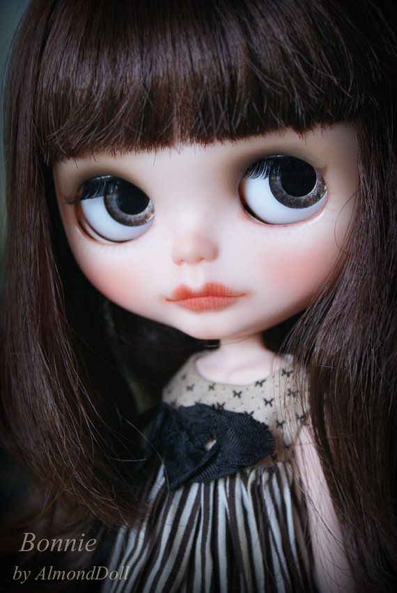 OOAK Custom Blythe doll, hand painted art doll by AlmondDoll