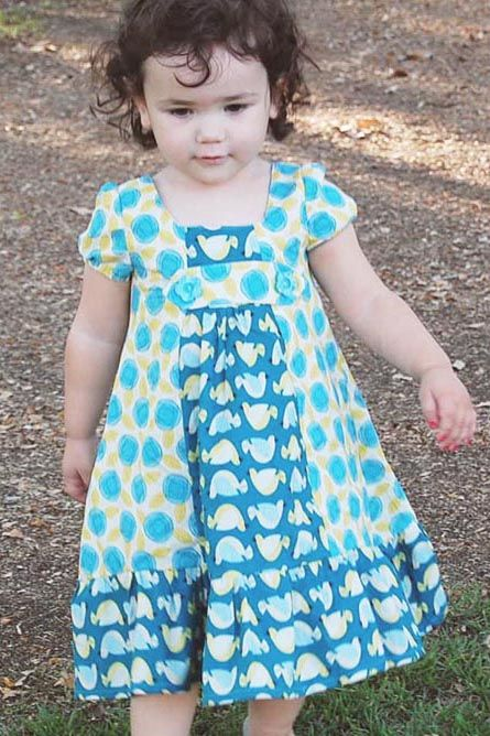 Delta Dress: Sewing Patterns for girls, boys & dolls - Sew Sweet Patterns