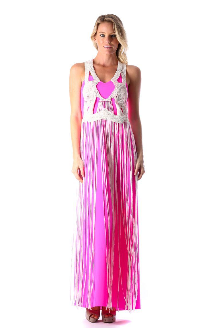 WHITE XARA FRINGE DRESS - PINK  http://runwaydream.com.au/white-xara-fringe-dress-pink-ixiah?options=cart Retail: $549.95 Hire:  $129