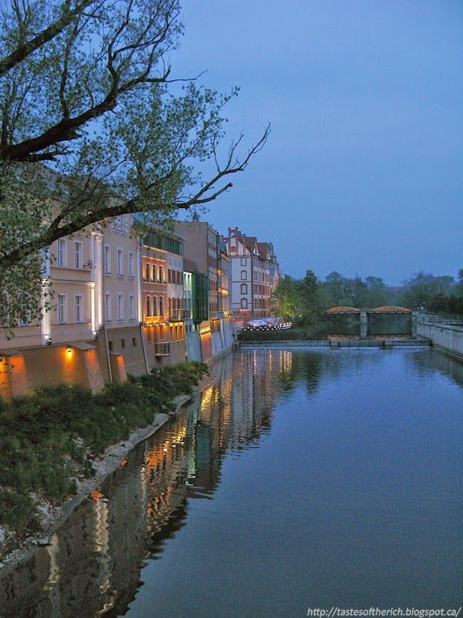 City by night. Opole, Poland