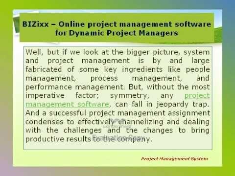 Web Based Project Management System - BIZixx