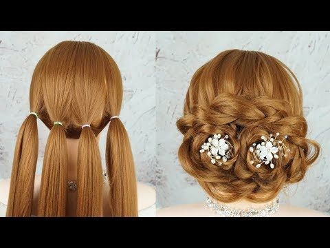 Frisuren Anleitung - Geflochtene Frisuren Mittellang 💖 Elegant Updo Hairstyles For Weddings 💗 - YouTube