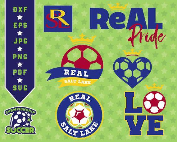 Real Salt Lake SVG, Logo Clipart, Real Salt Lake Soccer, Clipart svg, Real Salt Like Soccer Clipart, Real Salt Like dxf 19-MLS