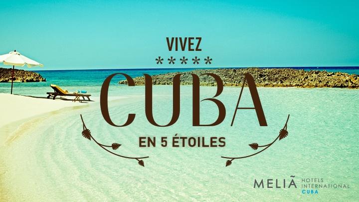 Inscrivez-vous sur la page Facebook d'Air Transat et courez la chance de gagner l'un des 2 voyages tout inclus d'une semaine dans un hôtel de luxe Paradisus de Mélia International Hotels Cuba à Varadero.