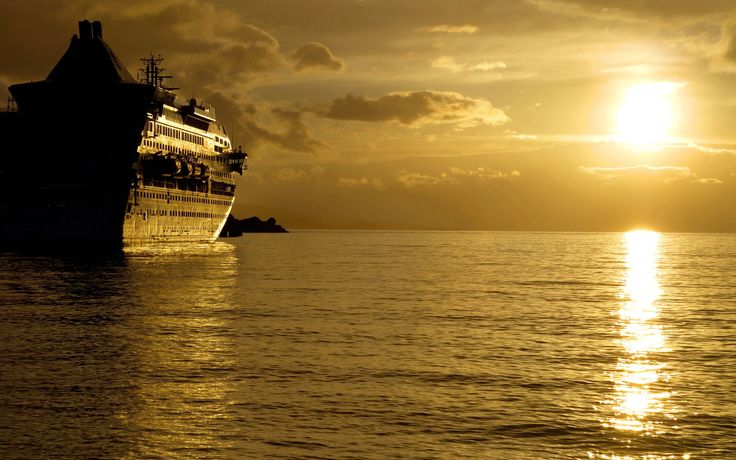 Cruise Ship Sunset 1920u00d71200   Boat HD Wallpapers   Pinterest   Cruise Ships Sunsets And Ships