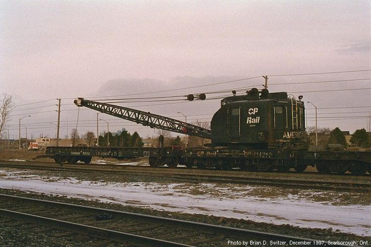 CP 414212 Diesel Crane Canadian Pacific Railway West Toronto assigned 1987