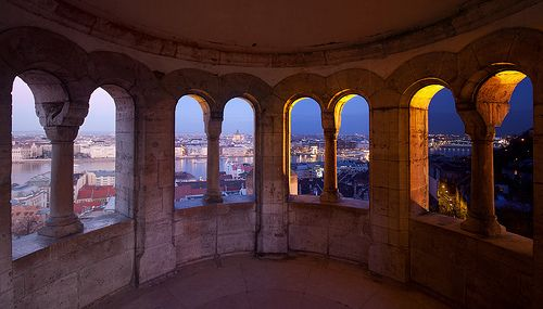 Day and Night (Fishermans Bastion) - Budapest, Hungary