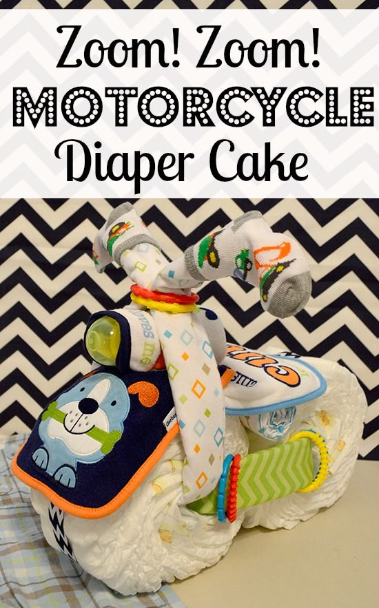 Zoom! Zoom! Motorcycle Diaper Cake Tutorial!