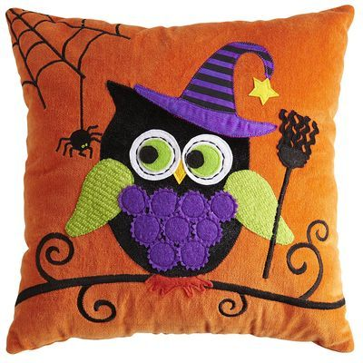owl halloween pillow so cute loving the trend in owls - Halloween Pillows