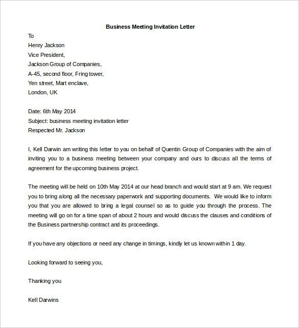Meeting Request Template Word 11 Features Of Meeting Request Template Word That Make Everyon Business Letter Template Business Letter Format Business Letter