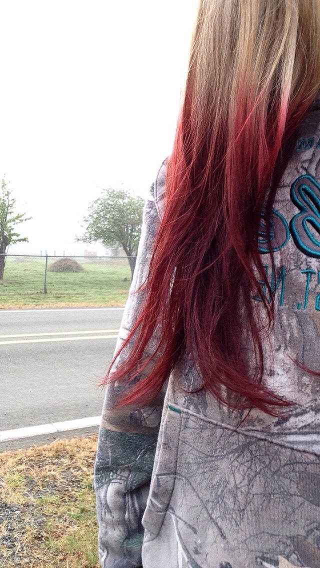 Kool aid!! I dyed my hair with two black cherries and one ...
