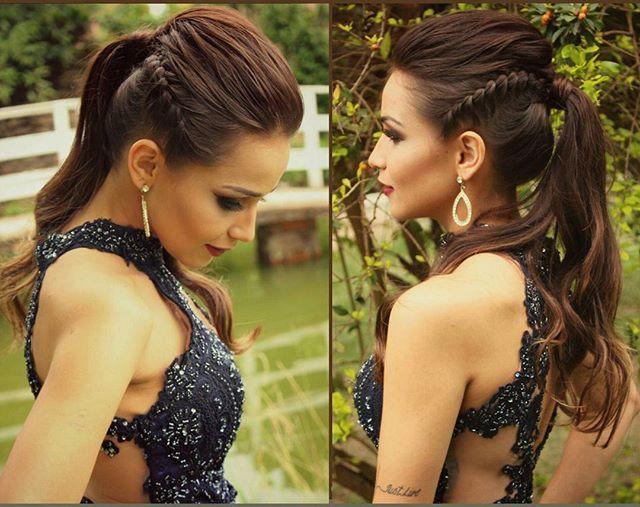 Rabo de cavalo ❤ #tranças #braids #bride #doit #dress #estyle #fashion #fotografia #glamour #hairstyle #hair #instabraid #inspiration #lifestyle #lipstick #model #makeupforever #makeup #noivas #nature #nails #photography #penteados #summer #sun #sunset #tendencia