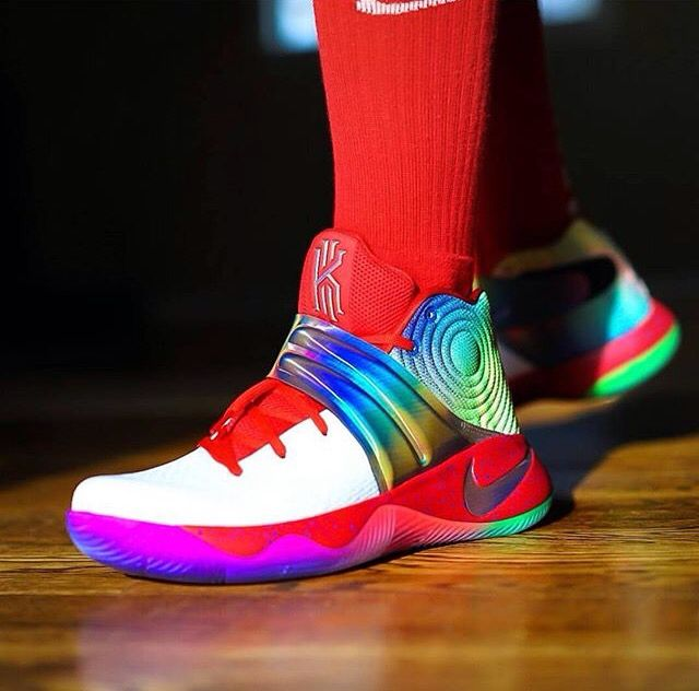 new style d9322 3968e ... Rainbow Kyrie 2 s   Jay   Pinterest   Best Rainbows ideas  Nike ...