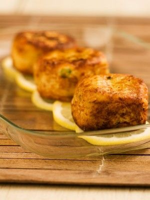 Potato fish cakes. They're great when made with salmon and served with a side of seafood sauce!